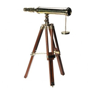 AUTHENTIC MODELS TELESCOPIO DA TAVOLO CON CAVALLETTO IN LEGNO
